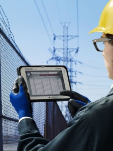 Panasonic rugged device for utility workers