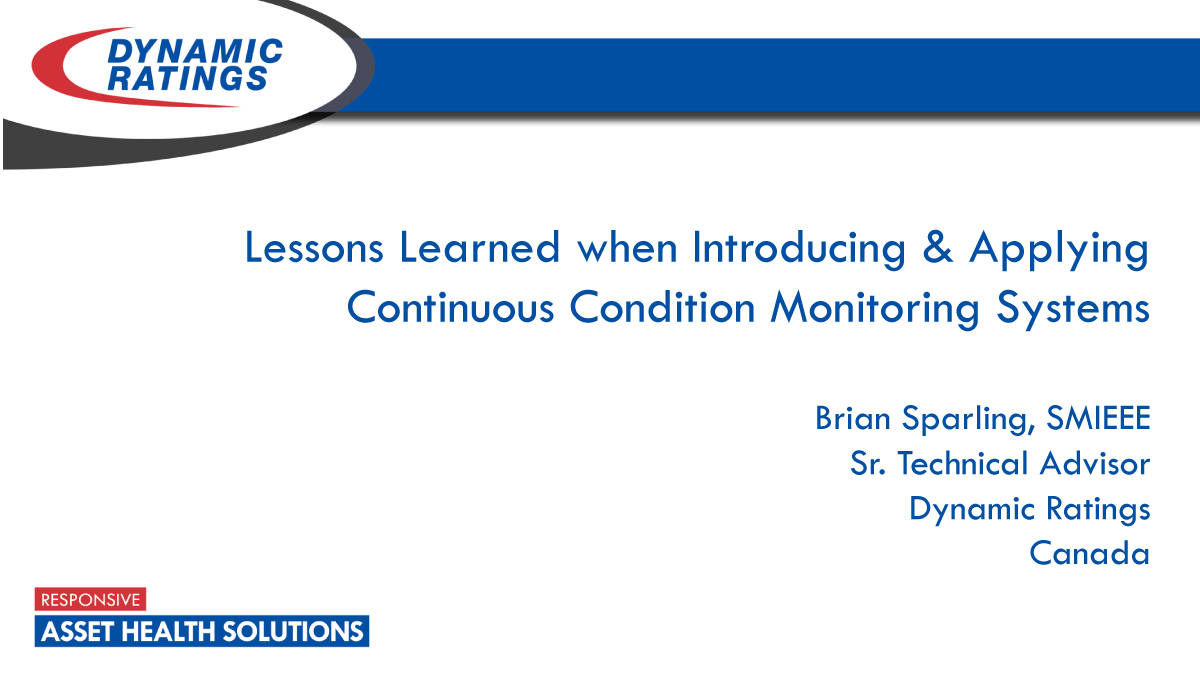 Lessons Learned When Introducing and Applying Continuous Condition Monitoring Systems
